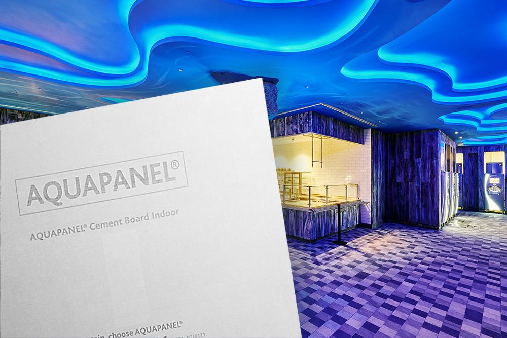Plaque de ciment en intérieur- Aquapanel Indoor - Haute dureté, résistance anti-feu, locaux humides