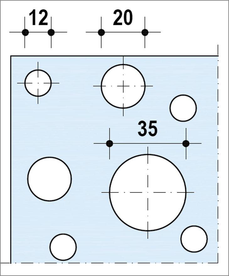 Knauf Delta Aléatoire 12_20_35 - Bords droits