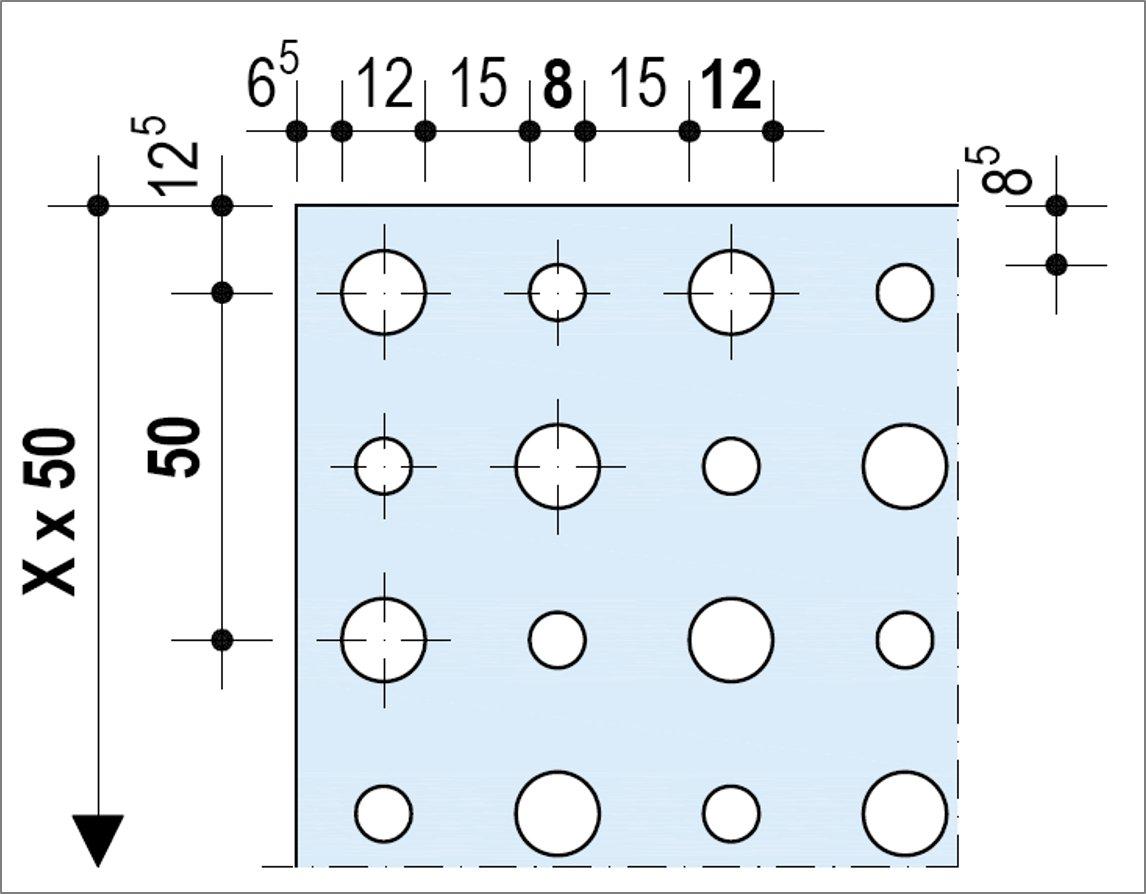 Knauf Delta Alterné 8-12-50 - Bords droits ou Linear