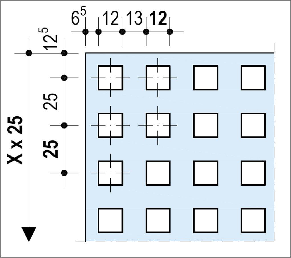 Knauf Delta Quadril 12-25 - Bords UFF ou Linear