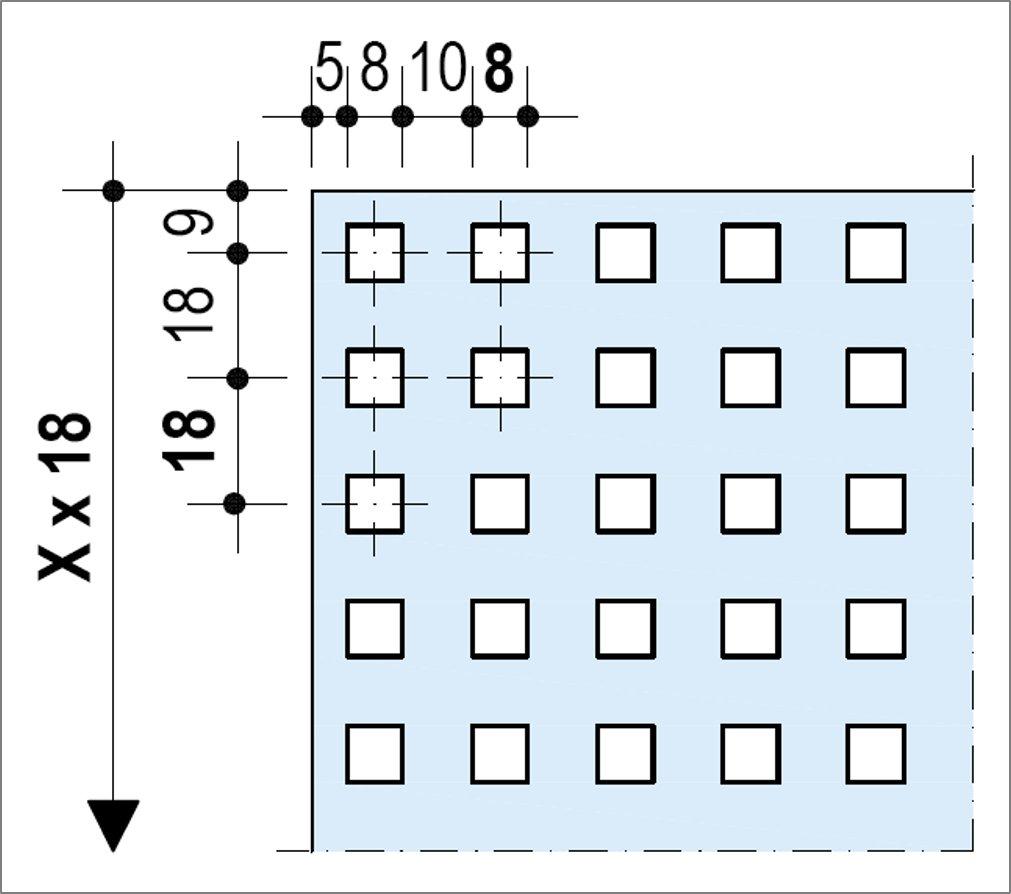 Knauf Delta Quadril 8-18 - Bords UFF
