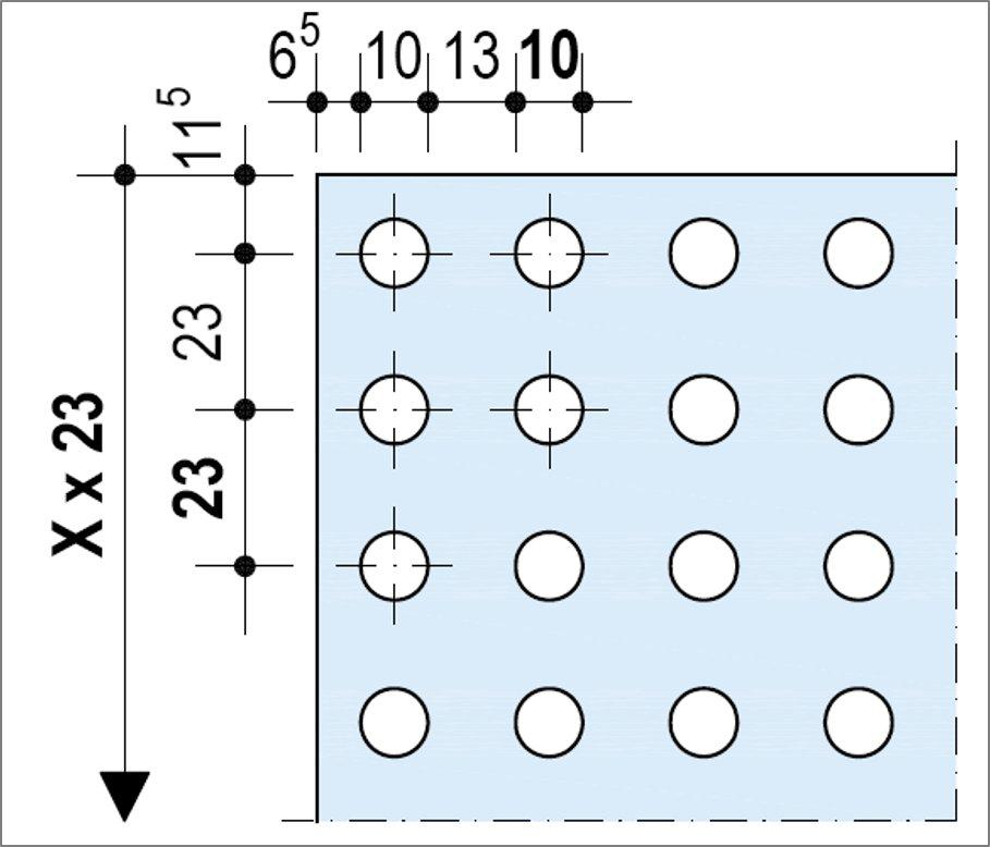 Knauf Delta Rectiligne 10-23 - Bords Linear ou droits