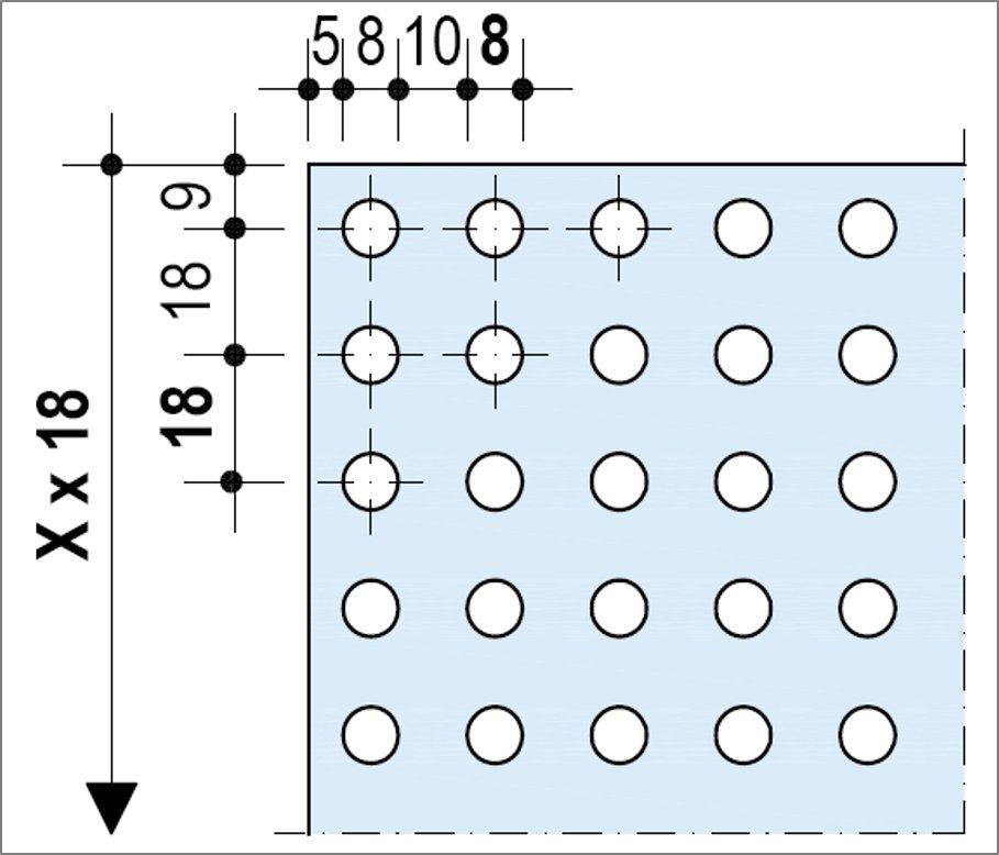 Knauf Delta Rectiligne 8-18 - Bords UFF ou Linear