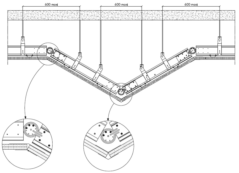 Knauf I-TEC Orientable - Plafond à redent