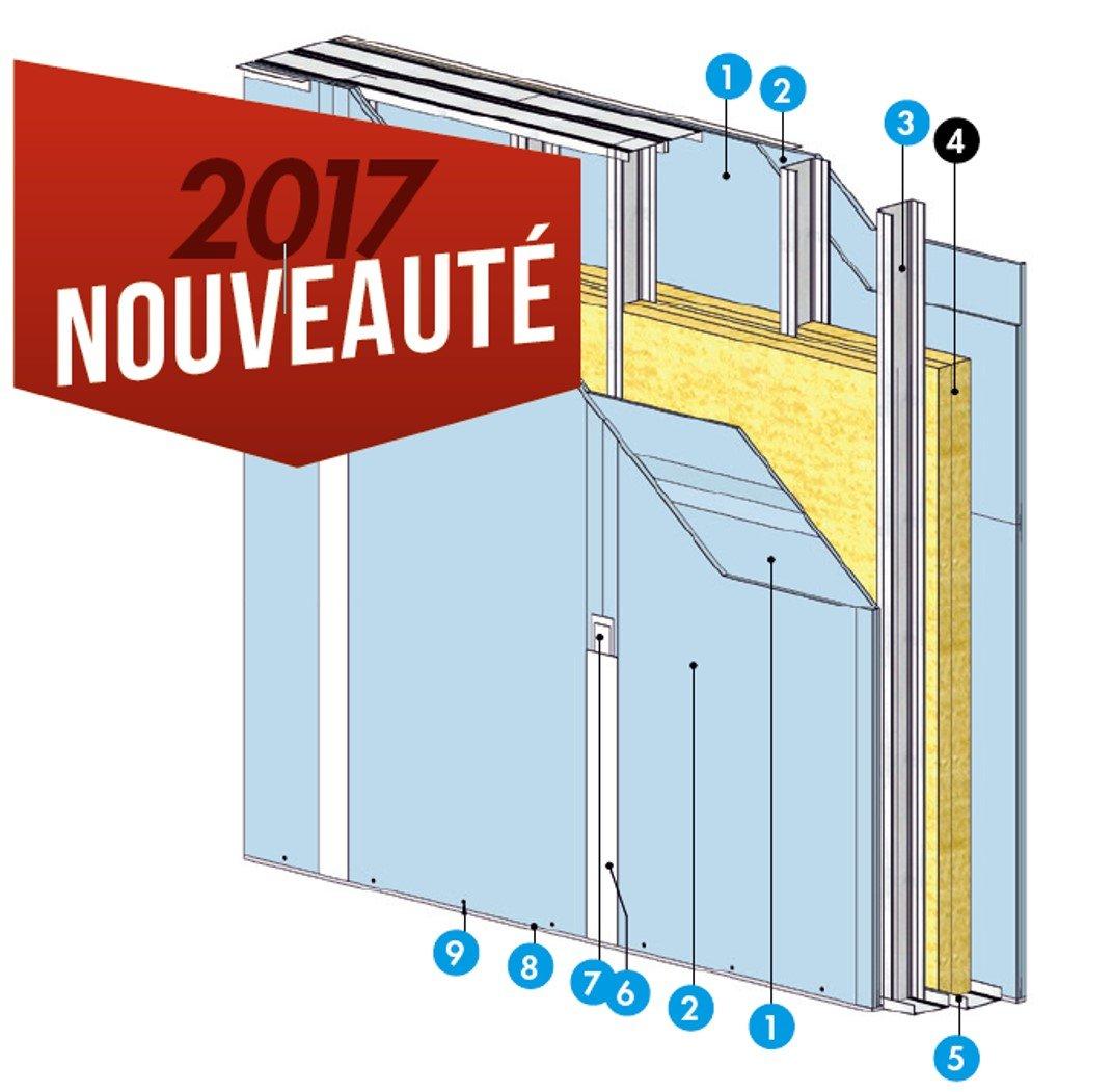 Knauf Métal Acoustique Oversize Cinéma avec KA 25 Phonik+ et KA 13 Phonik -schéma