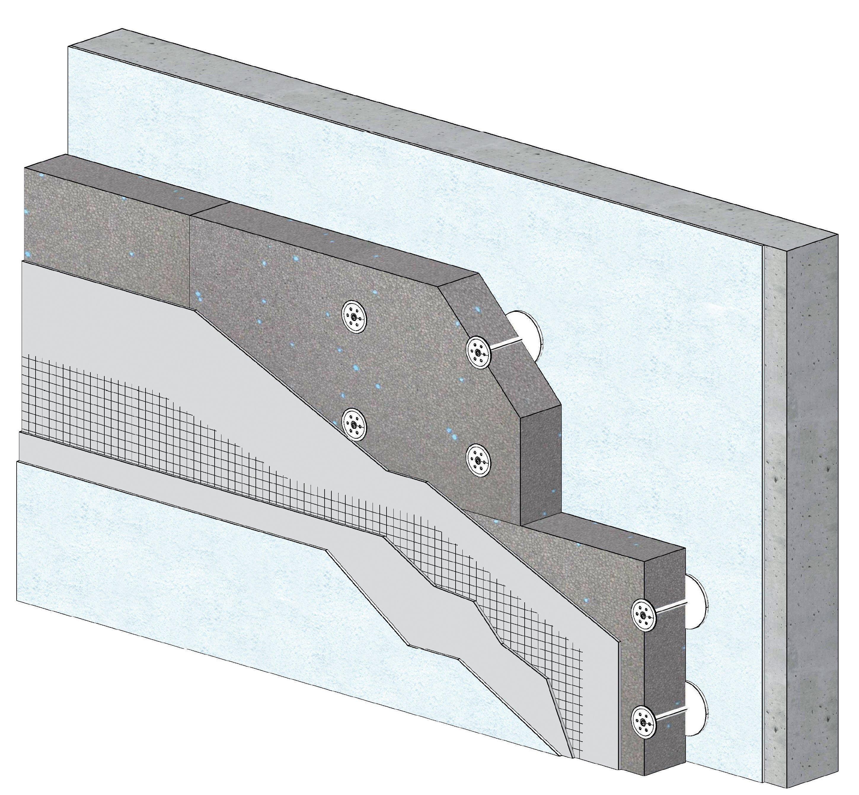 Knauf XTherm ITEx+ enduit mince pose calée chevillée PSE gris 3D ind A-A4 portrait