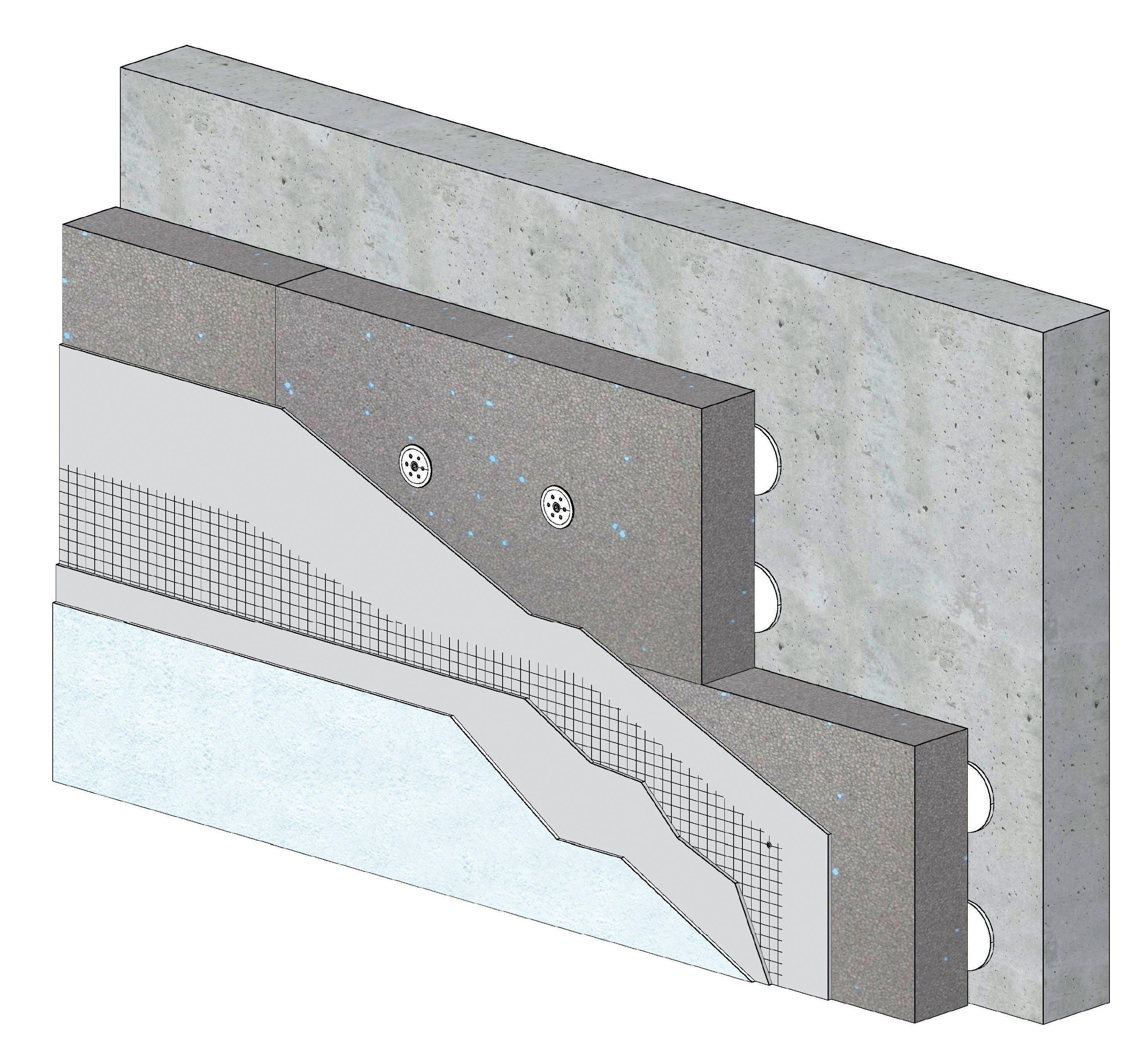 Knauf XTherm ITEx+ enduit mince pose collée PSE gris 3D ind A-A4 portrait