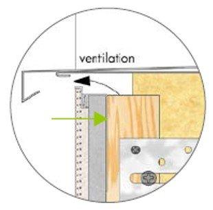 Knauf profile maintien PVC - schéma
