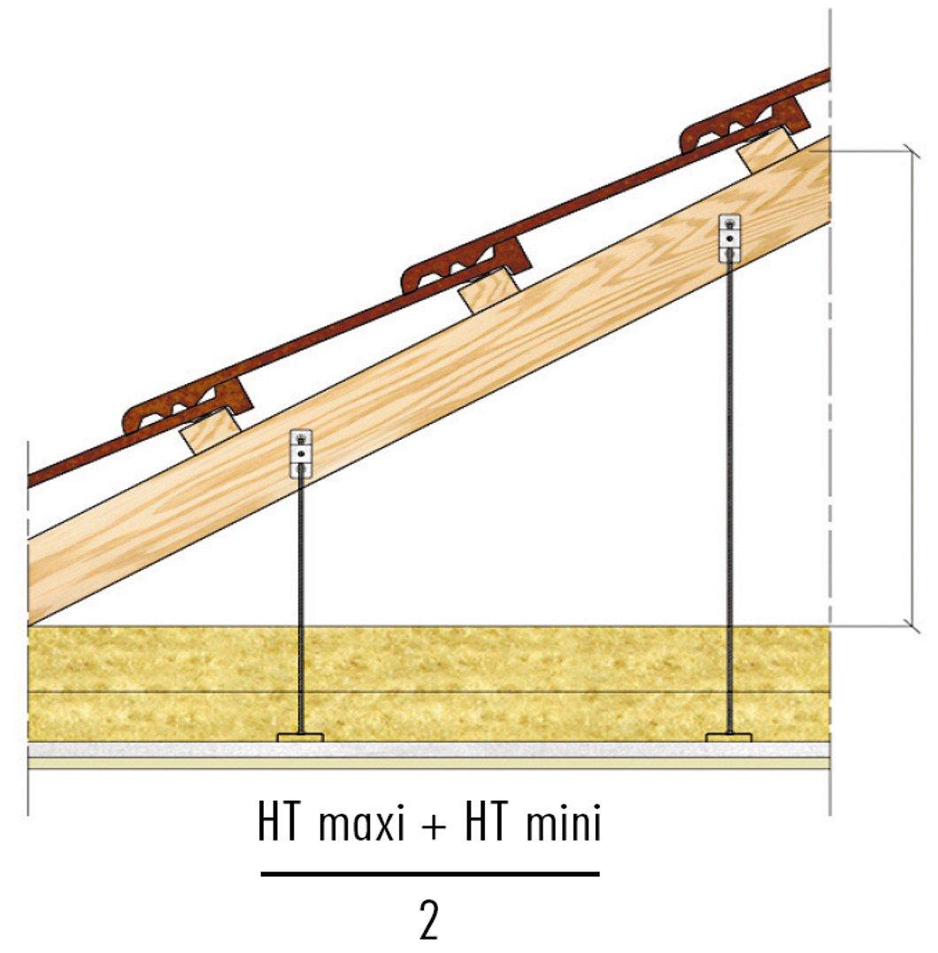 Plafond Knauf Métal - PLAFONDS SOUS CHARPENTE BOIS 1