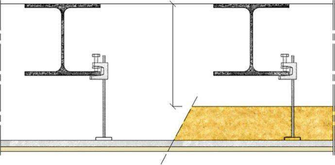 Plafond knauf m tal 2 ks25 plafonds pl tre knauf m tal knauf b timent - Faux plafond resille metallique ...