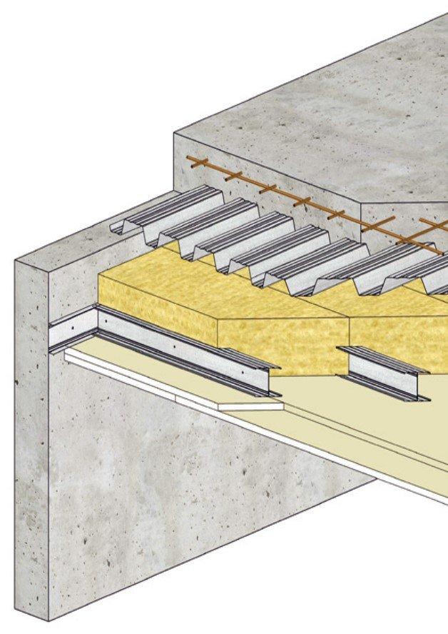 Plafond Knauf Métal - Plafonds sous plancher collaborant 2
