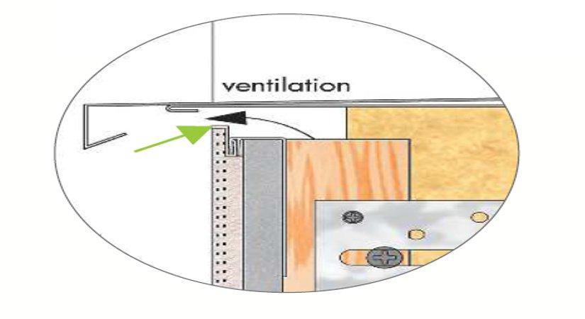Profilé d'arret PVC
