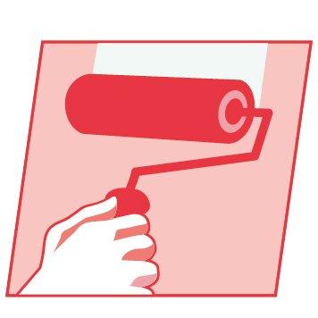Propaint-Fine Finish-application rouleau