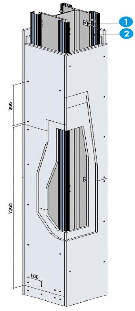Système de protection - Protection d'une poteau avec double peau