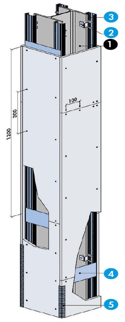 Système de protection - Protection d'une poteau avec simple peau