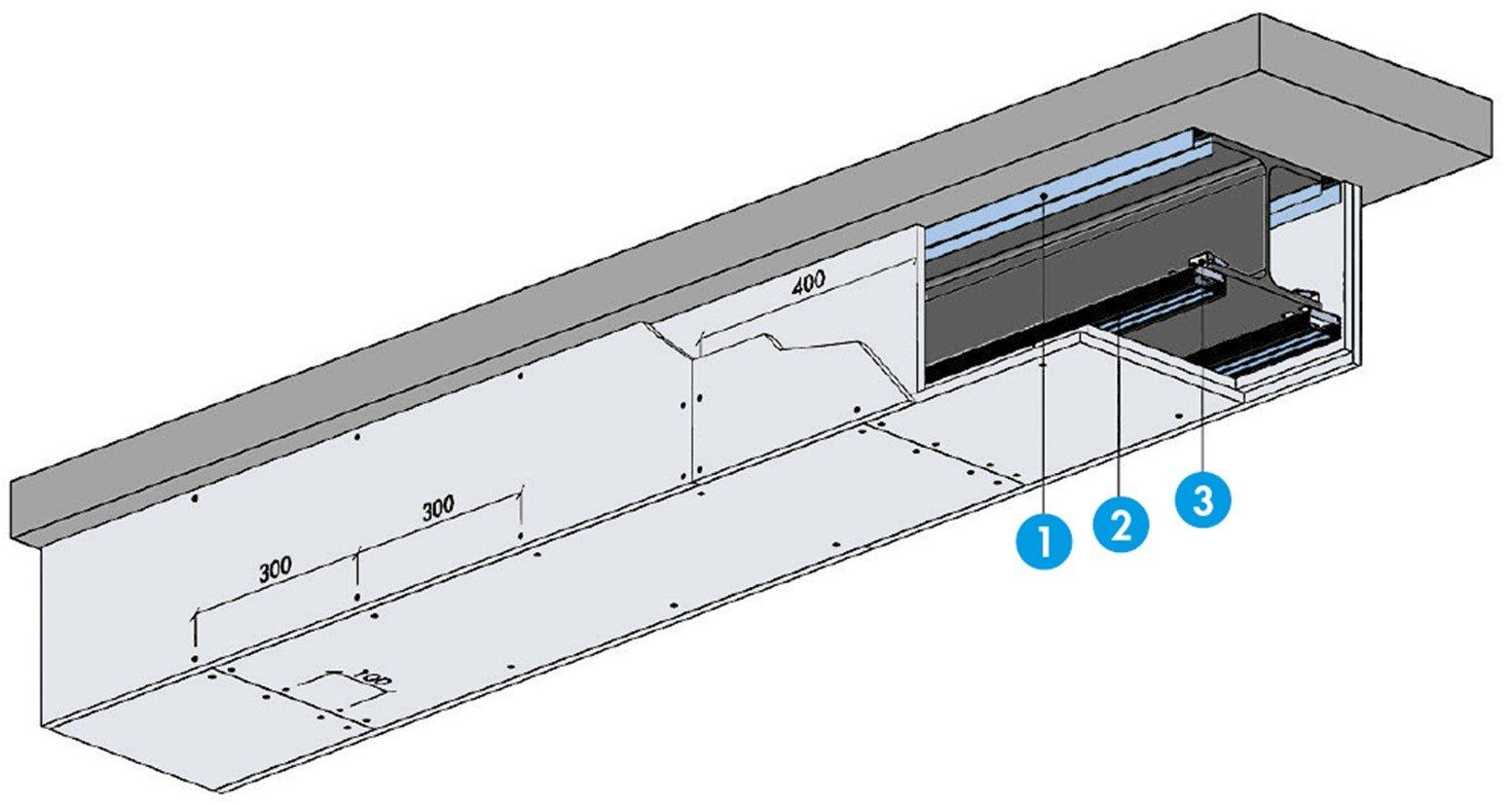 Système de protection - Protection d'une poutre avec double peau