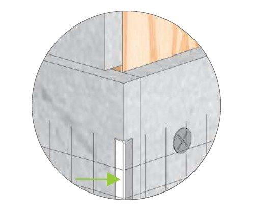 profilé d'angle entoilé PVC