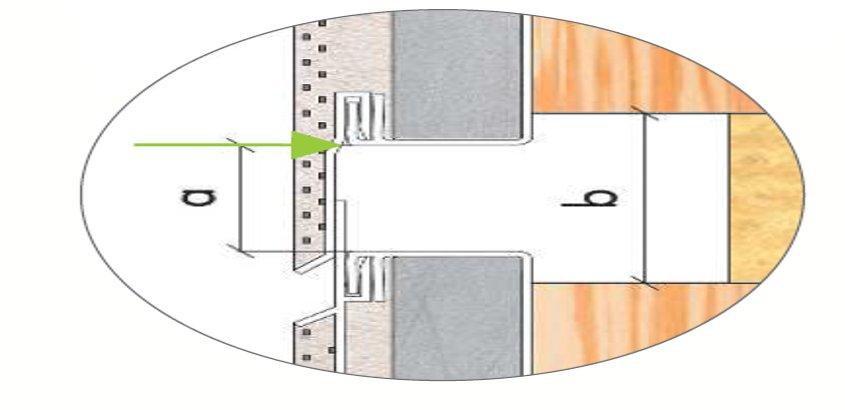 profilé de fractionnement haut PVC