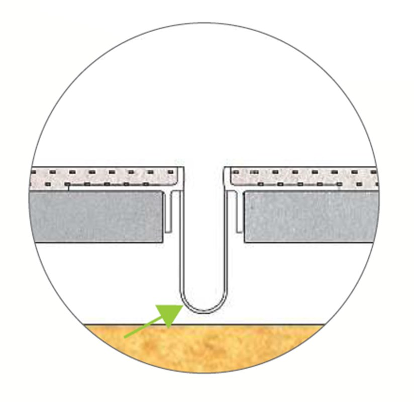 profilé de fractionnement vertical PVC