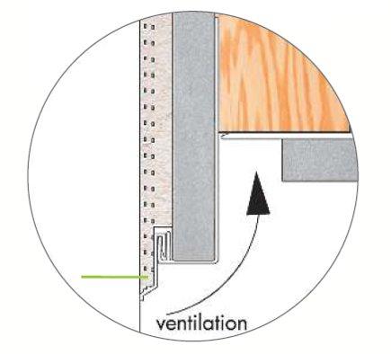 profilé goutte d'eau PVC