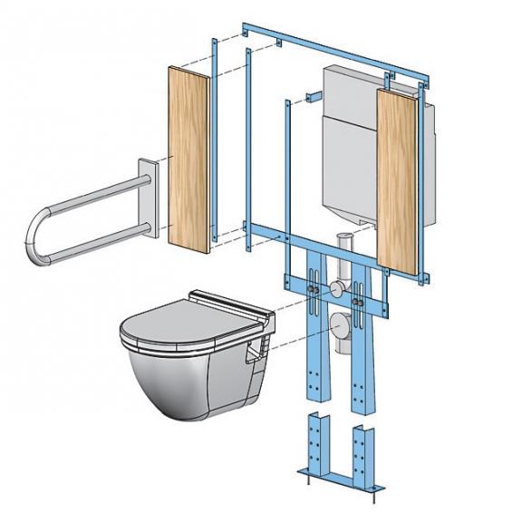 Attrayant Accessoires Pour Cloisons   Support WC Handicapés U2013 Supports Sanitaires U2013  Knauf